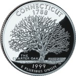 USA:  25 Centów / 1999 r. - Connecticut (nr 5)