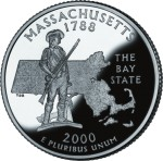 USA:  25 Centów / 2000 r. - Massachusetts (nr 6)