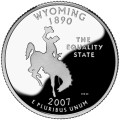 USA:  25 Centów / 2007 r. - Wyoming (nr 44)