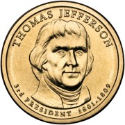 Prezydenci USA - 1$ / 2007 r. - Thomas Jefferson (nr 3)