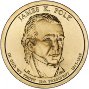 Prezydenci USA - 1$ / 2009 r. - James K. Polk  (nr 11)